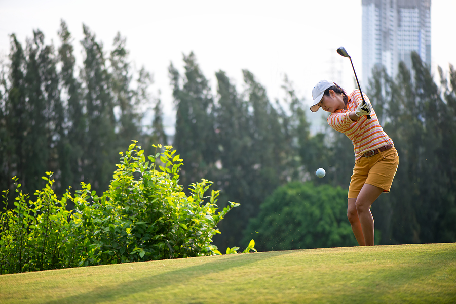 Stock image of a golfer