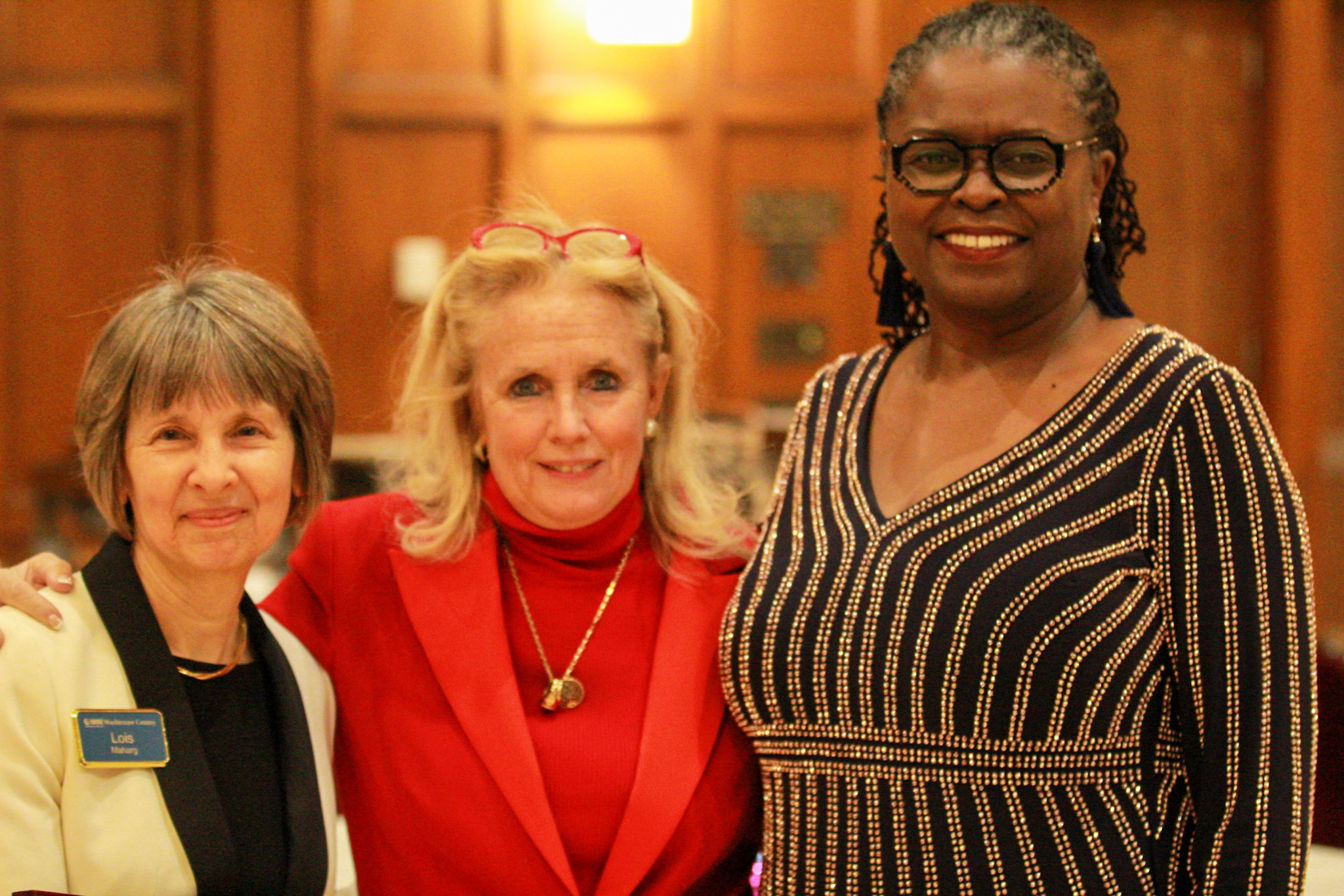 Congresswoman Debbie Dingell with NAMI Washtenaw Executive Director Judy Gardner and Board Member Lois Maharg