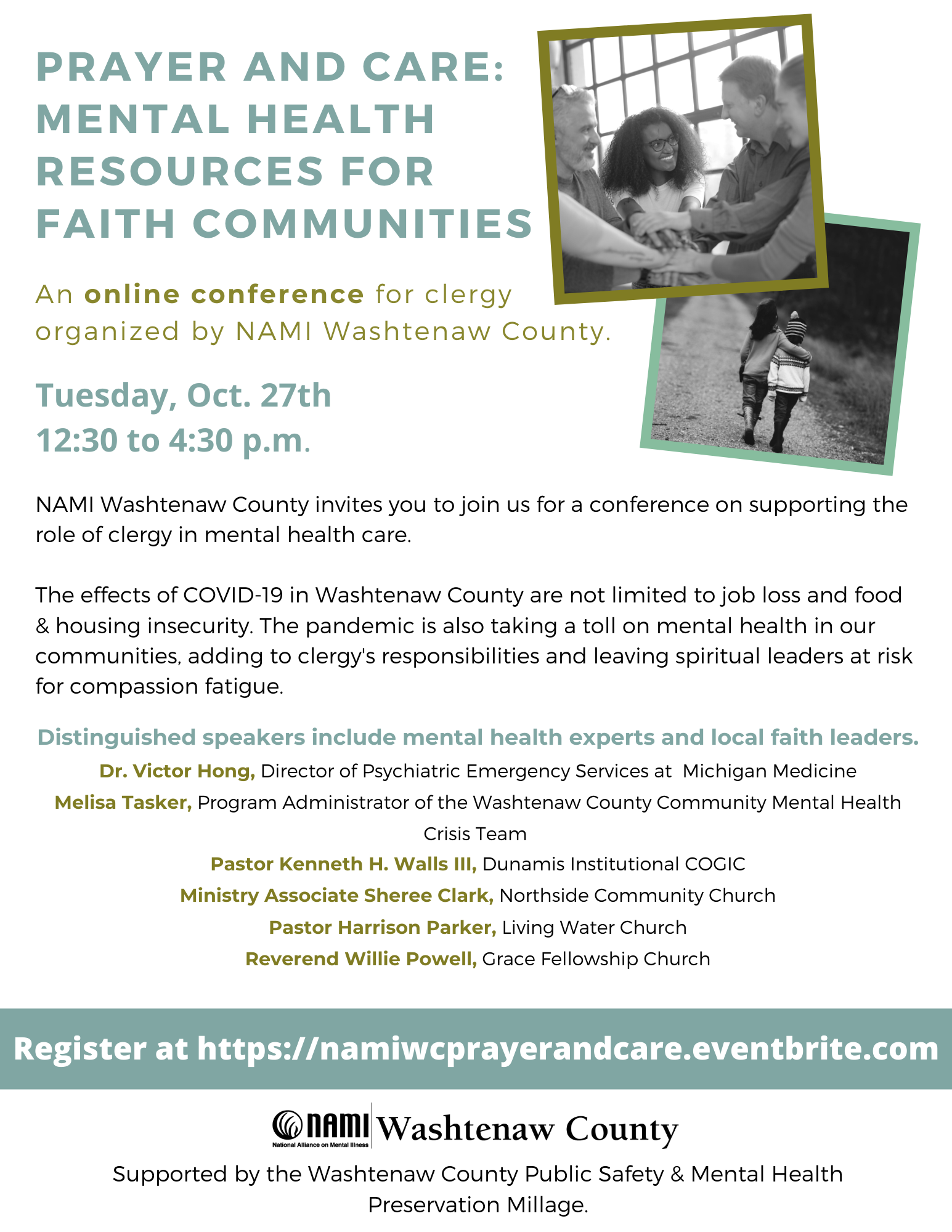NAMI WC Clergy Conference Flyer